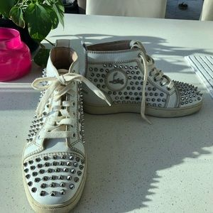 Christian louboutin Louis studded spike sneakers